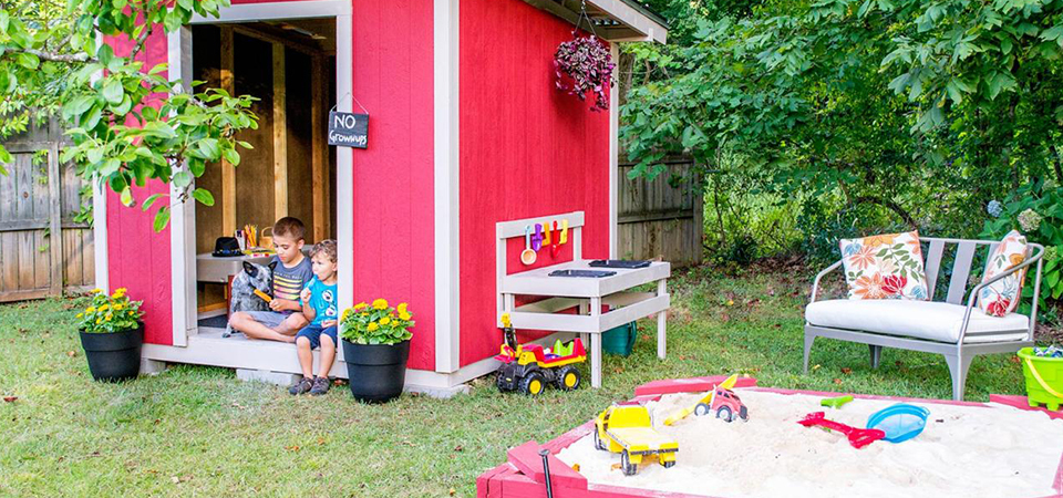 Tips To Transform Your Garden Shed Into A Playhouse